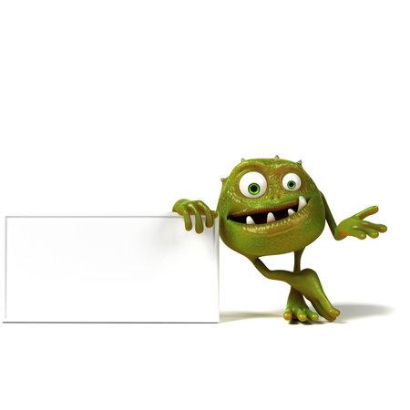 bacterias: 3d rindió la ilustración de una bacteria toon gracioso