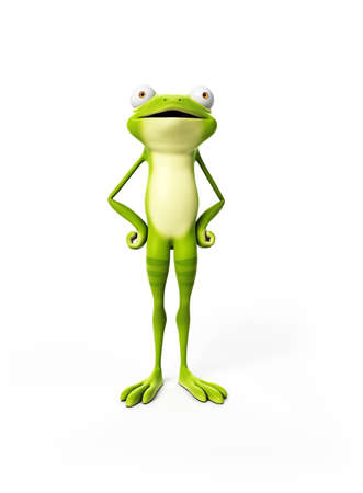 3d rendered illustration of a funny frog illustration