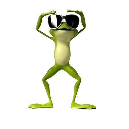 amphibians: 3d rendered illustration of a funny frog Stock Photo