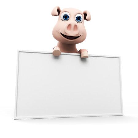 3d rendered illustration of a funny pig Stock Illustration - 17904841