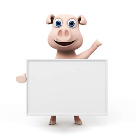 3d rendered illustration of a funny pig Stock Illustration - 17904867