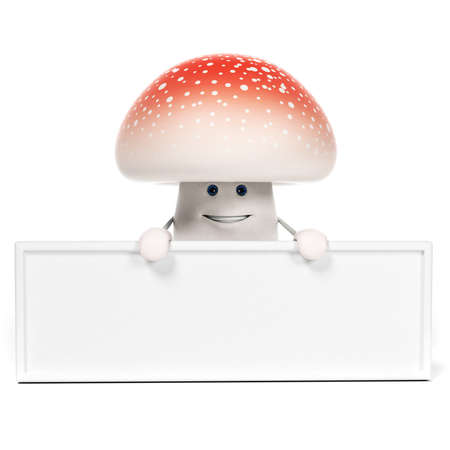 3d rendered illustration of a mushroom character Stock Illustration - 17905359