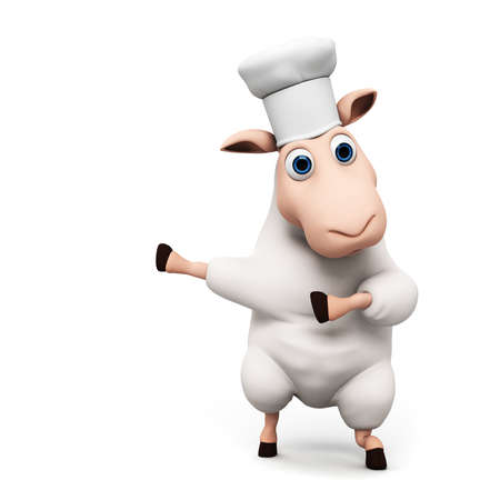 sheepy: 3d rendered illustration of a funny sheep Stock Photo