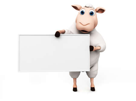 3d rendered illustration of a funny sheep illustration