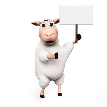 ovelha: 3d rendeu a ilustra