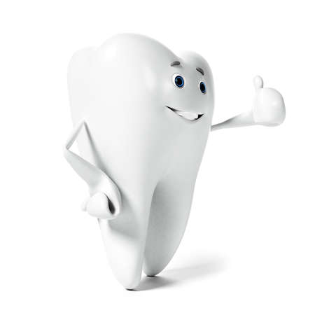 cavities: 3d rendered illustration of a tooth character