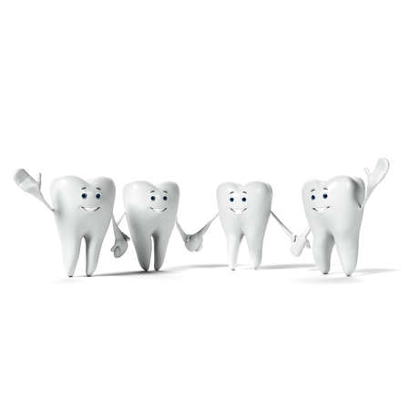 rendered: 3d rendered illustration of a tooth character