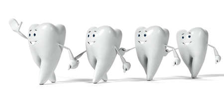 dental care: 3d rendered illustration of a tooth character