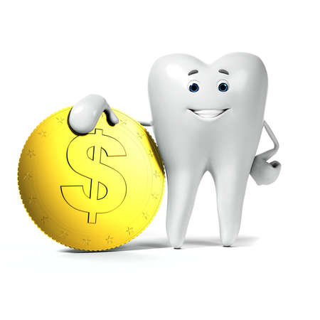 tooth root: 3d rendered illustration of a tooth character