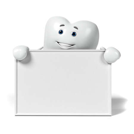 tooth decay: 3d rendered illustration of a tooth character