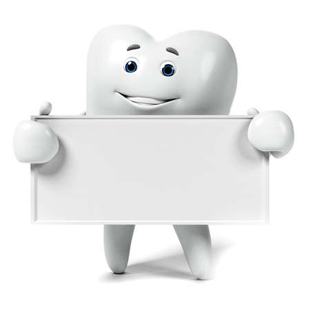 dent: 3d rendered illustration of a tooth character