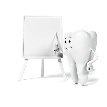 mouth cavity: 3d rendered illustration of a tooth character