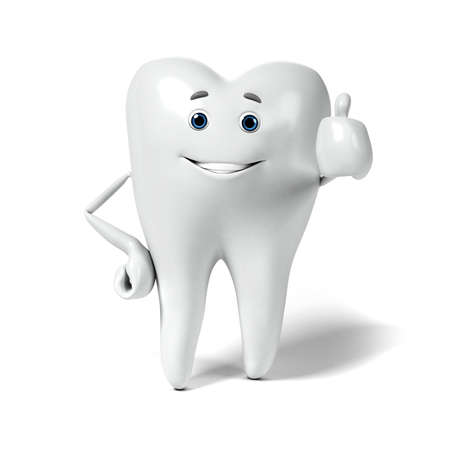 cavity: 3d rendered illustration of a tooth character