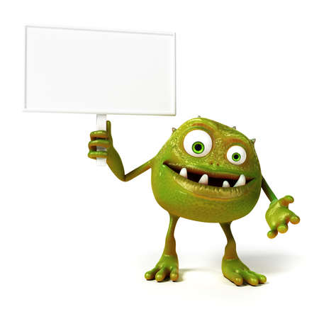 bacteria cartoon: 3d rendered illustration of a funny bacteria toon Stock Photo