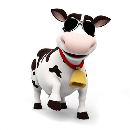 cow's milk cheese: 3d rendered illustration of a toon cow