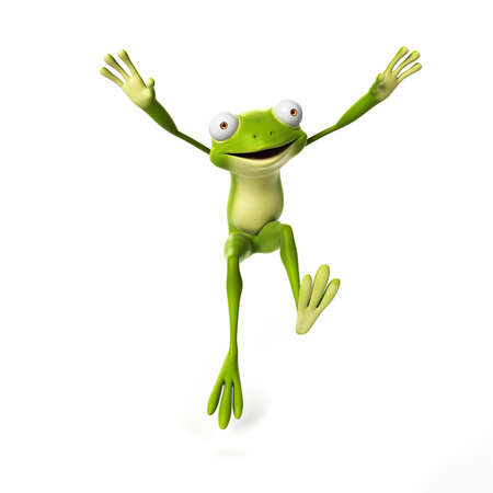 3d rendered illustration of a funny frog Stock Photo