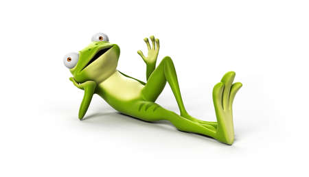 toe: 3d rendered illustration of a funny frog Stock Photo