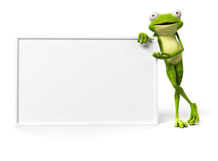 toon: 3d rendered illustration of a funny frog Stock Photo