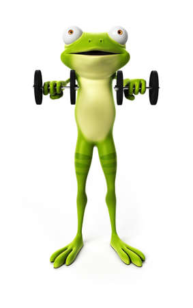 amphibian: 3d rendered illustration of a funny frog Stock Photo
