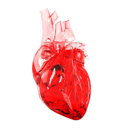 3d rendered illustration - glass heart illustration