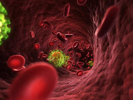 3d rendered illustration - HIV