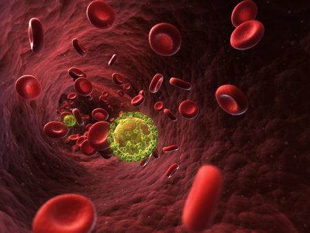 3d rendered illustration - HIV  illustration