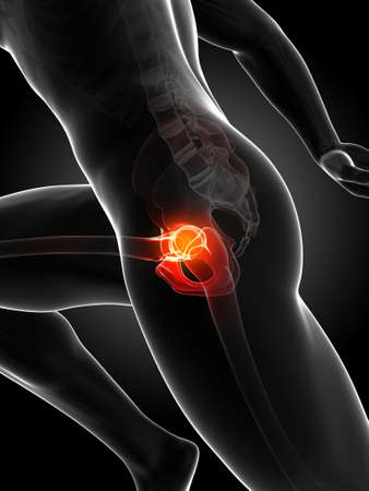 cartilage: 3d rendered illustration - runners joints Stock Photo