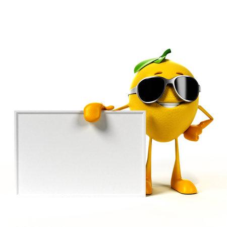 Illustration de rendu 3D d'un personnage de citron Banque d'images - 18070759