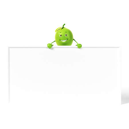toon: 3d rendered illustration of a lime character