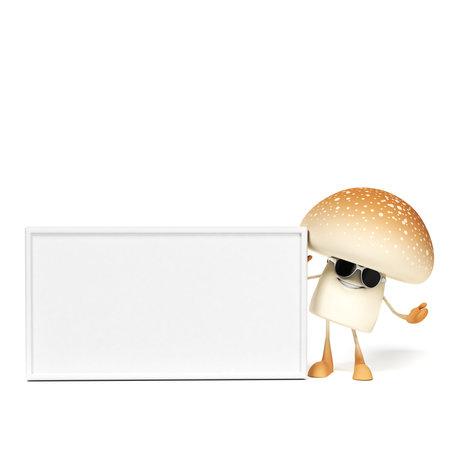 3d rendered illustration of a mushroom character Stock Illustration - 18070389