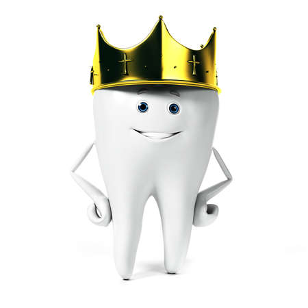 3d rendered illustration of a tooth character illustration