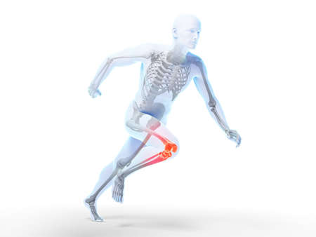 sprinting: 3d rendered illustration - sprinter