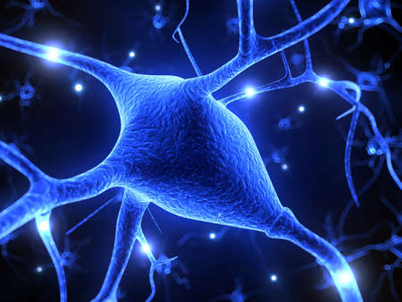 3d rendered illustration - nerve cell illustration