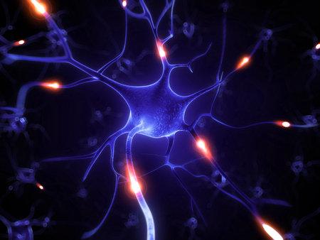 nervios: 3d rindi� la ilustraci�n - c�lula nerviosa