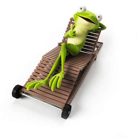 funny: 3d rendered funny frog