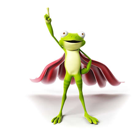 3d rendered funny frog