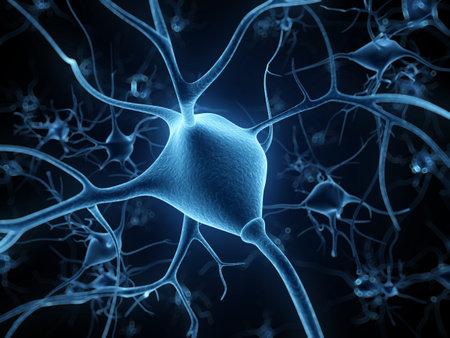 neurona: 3d rindi� la ilustraci�n - c�lula nerviosa