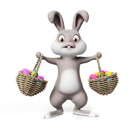 3d rendering of a cute easter bunny Stock Photo - 18448295