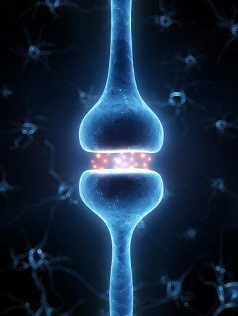 3d rendered illustration of an active receptor illustration