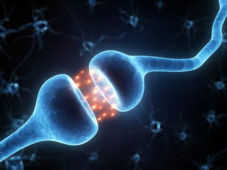 neuron: 3d rindi� la ilustraci�n de un receptor activo