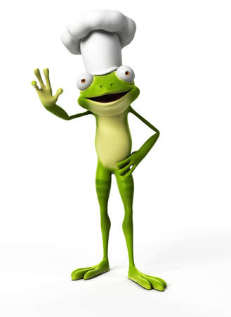 funny frog: 3d rendered funny frog