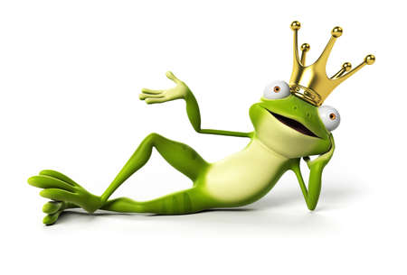 princess frog: 3d rendered funny frog
