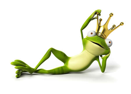 frog illustration: 3d rendered funny frog