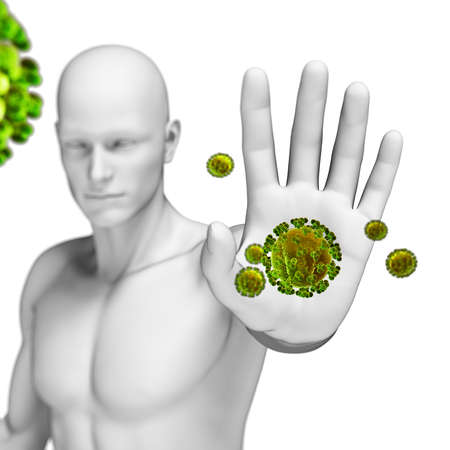 human immune system: 3d rendered illustration of the immune defense