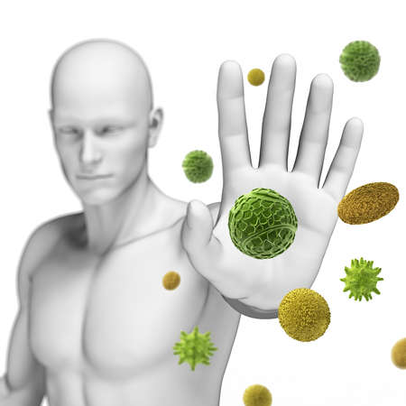 system: 3d świadczonych ilustracji obronie jakiś pyłek