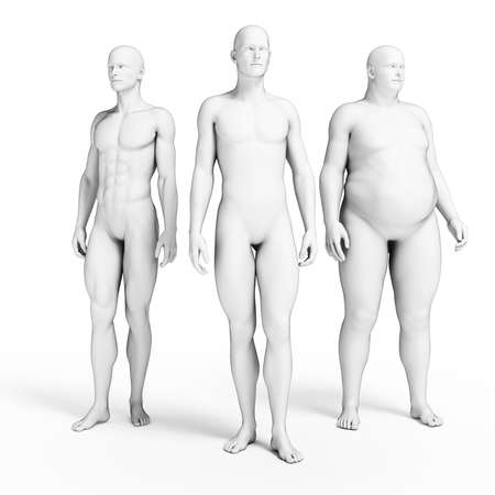 human bodies: 3d rendered illustration of some men