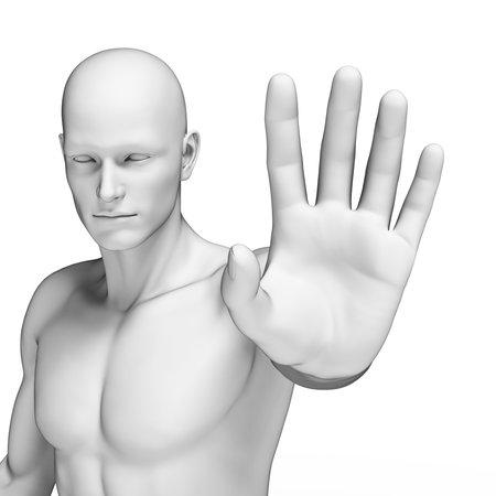3d rendered illustration of a defending man
