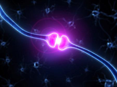 cellule nervose: 3d ha reso l'illustrazione di un recettore umano