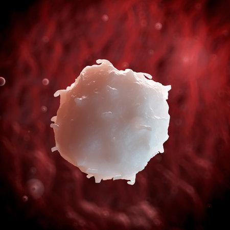globulos blancos: 3d rindió la ilustración de un glóbulo blanco
