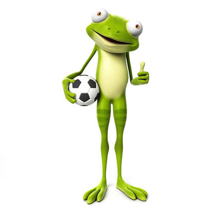 3d rendered toon character - green frog Stock Photo - 22584056